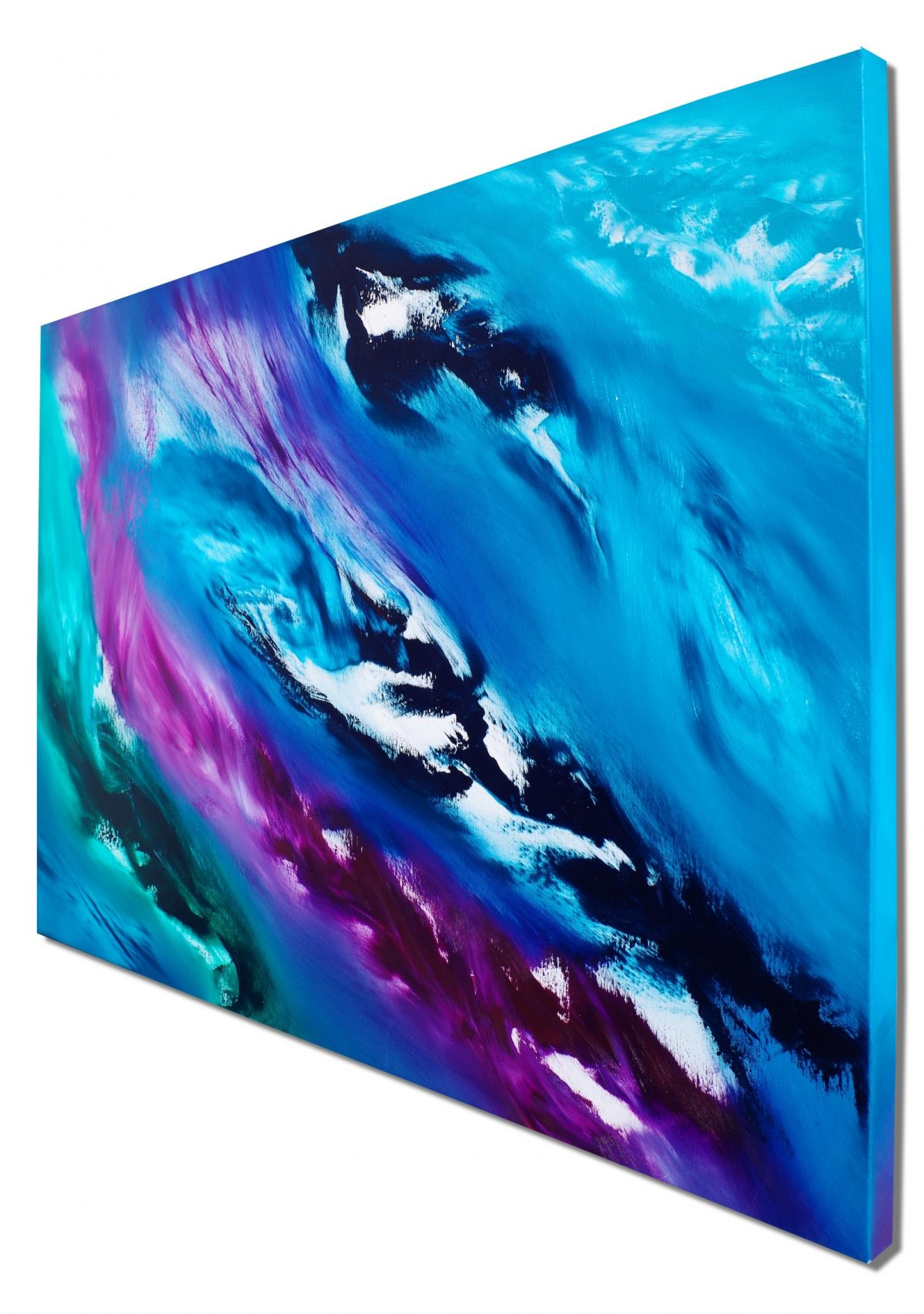 Blue Sky I 100x70 quadro dipinto originale astratto in vendita online