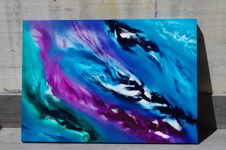 Blue Sky I 100x70 quadro dipinto originale astratto in vendita online