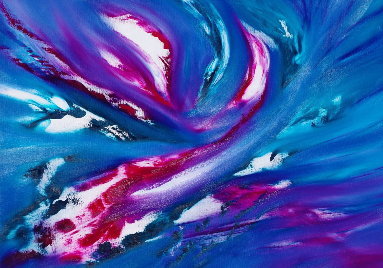 Blue Sky II 100x70 quadro dipinto originale astratto in vendita online