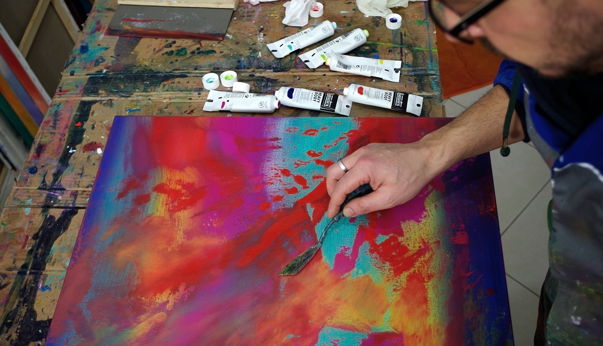 Endless 60X60 quadro dipinto originale astratto in vendita online
