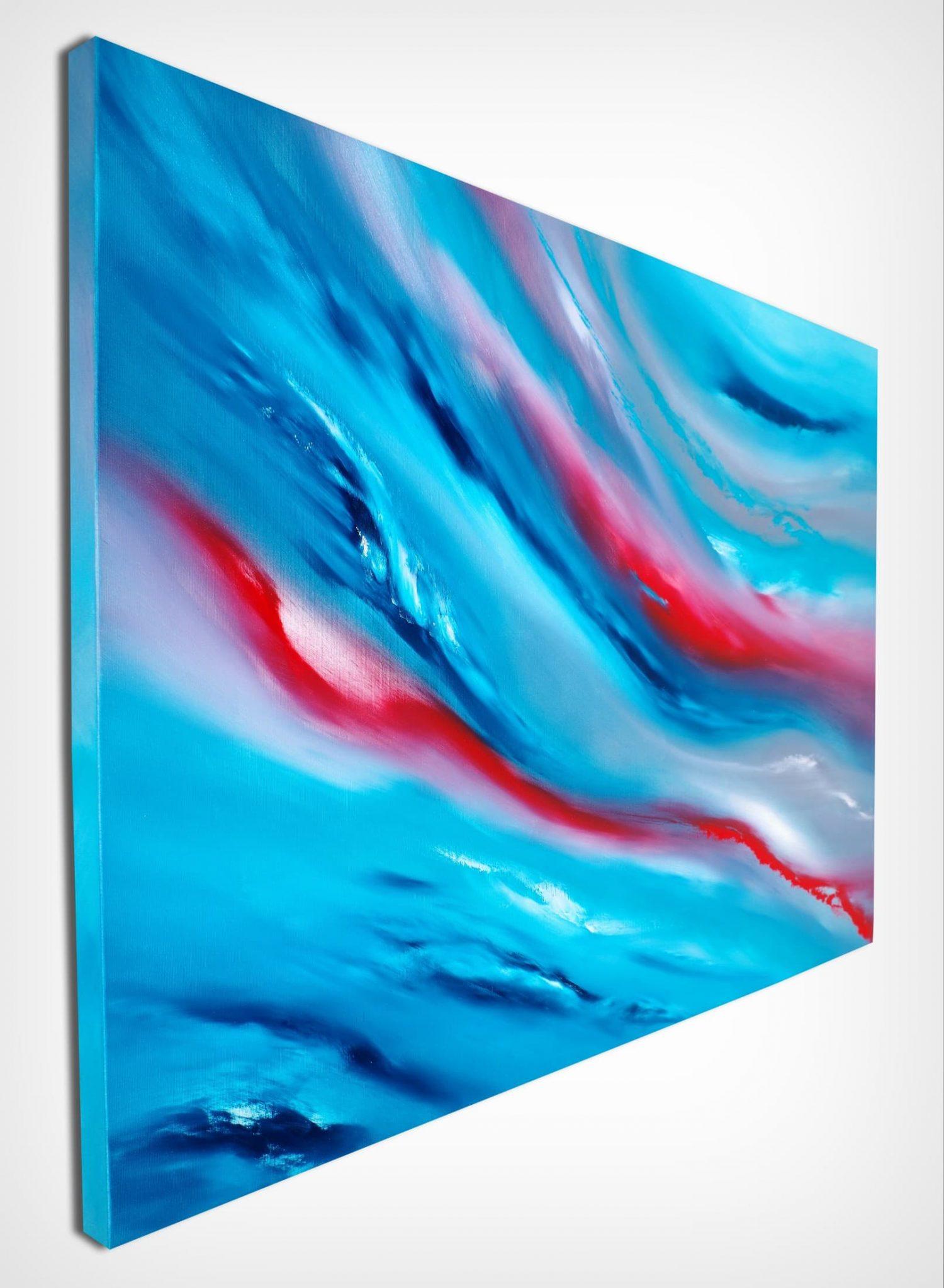Blue Sky IiI 100x70 quadro dipinto originale astratto in vendita online