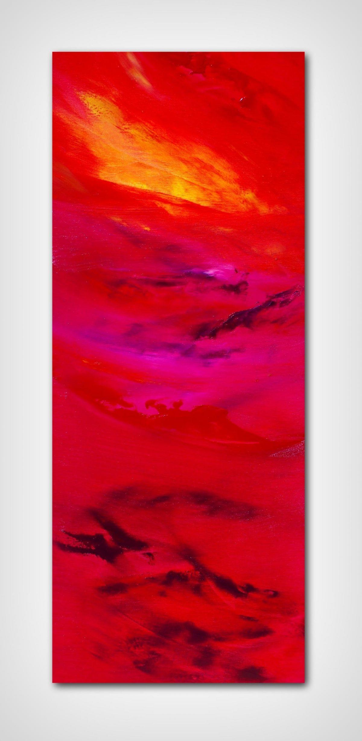 Languido fuoco II opera su commissione quadro dipinto moderno astratto in vendita online