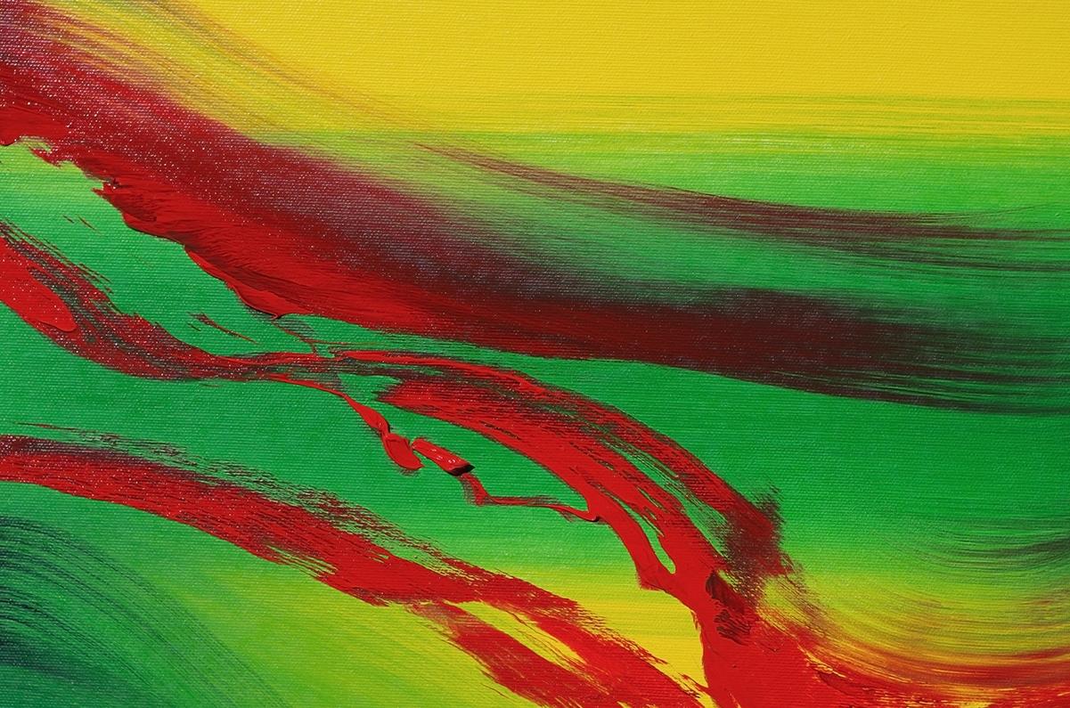 Touch of red 60x60 quadro dipinto originale astratto in vendita online