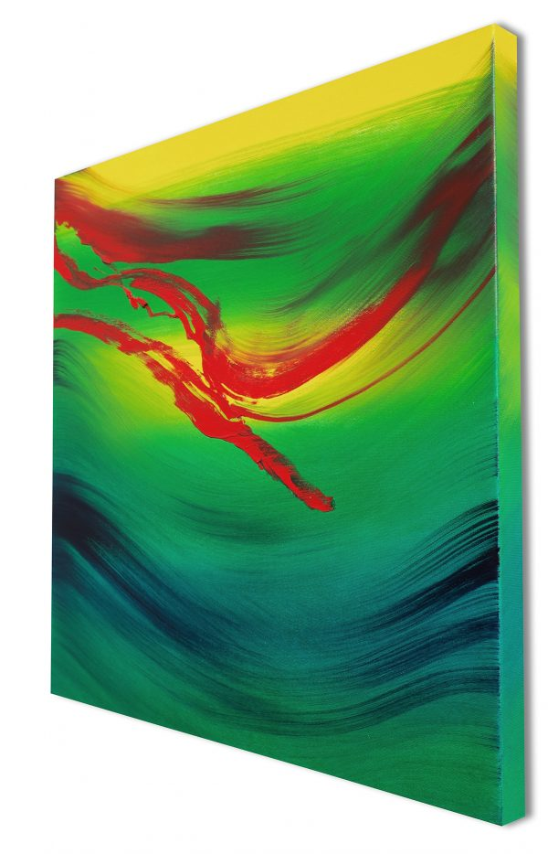Touch of red 60x60 quadro dipinto originale astratto in vendita online
