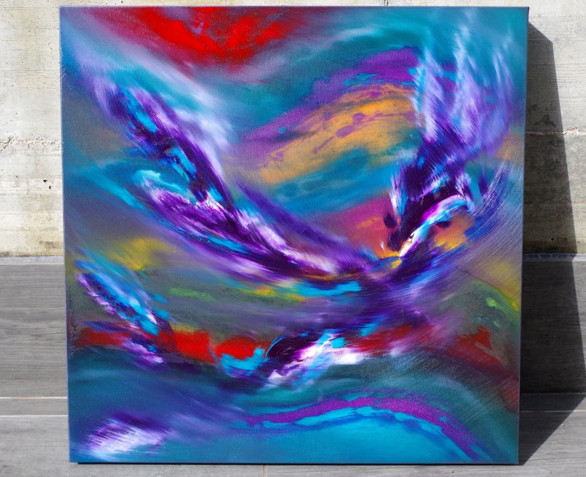 Angel on fire 60x60 quadro moderno in vendita online