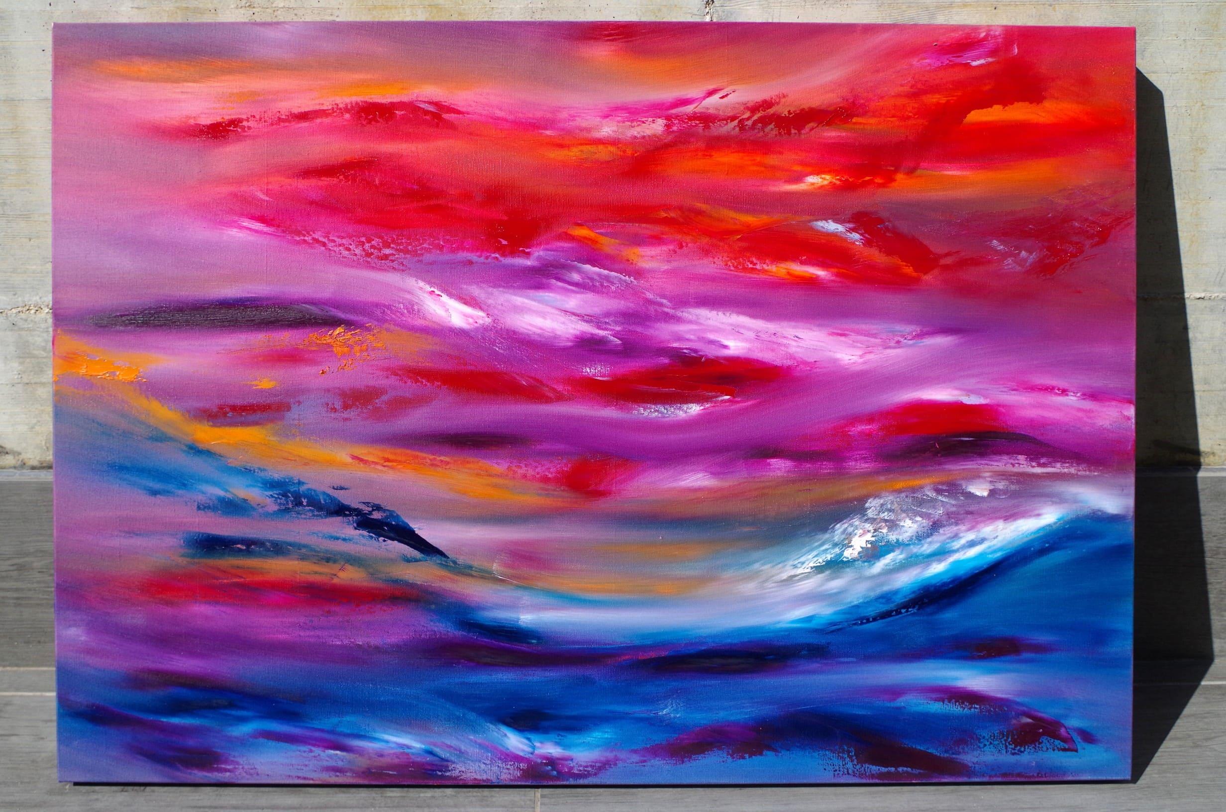 Ride the storm 100×70 quadro dipinto moderno astratto in vendita online