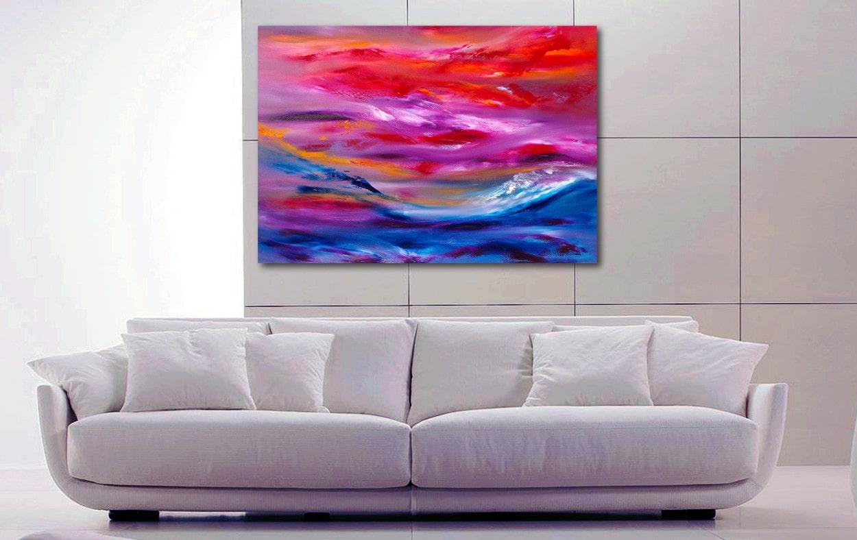 Ride the storm 100x70 quadro dipinto moderno astratto in vendita online