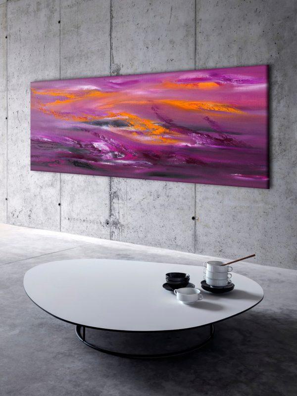 Turbolence 100x40 quadro astratto in vendita online