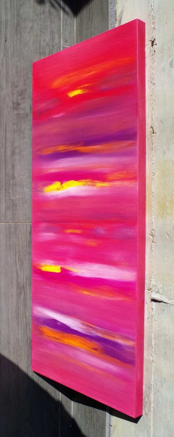 Sunset anomaly I 100x40 quadro astratto in vendita online