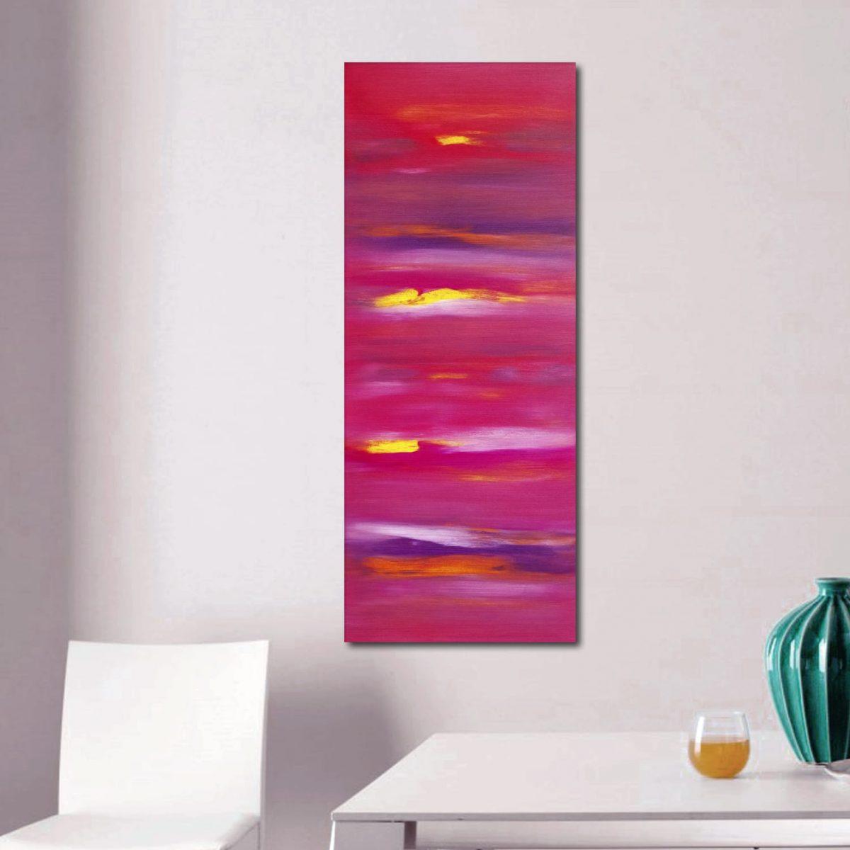 Sunset anomaly I 100x40 quadro astratto in vendita online