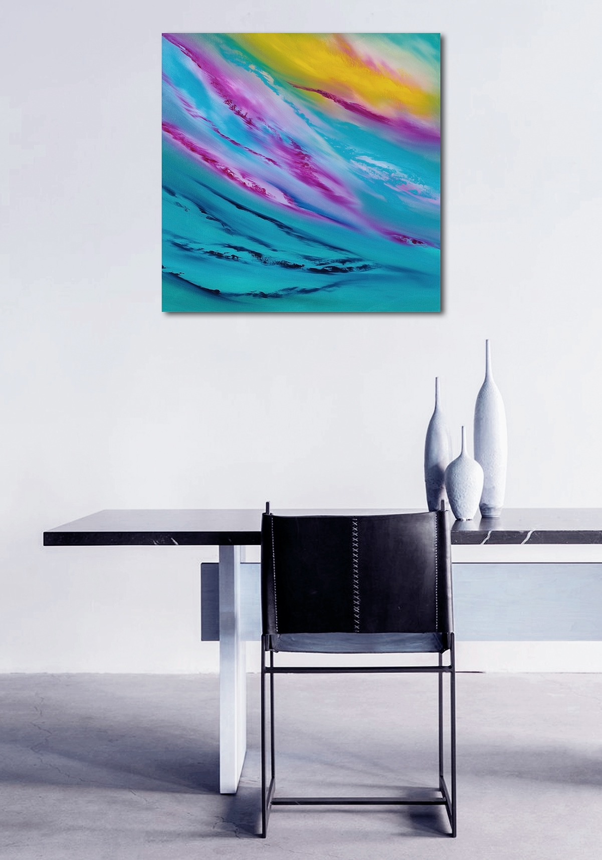 Distracted dream IV 2018 60x60 quadro moderno in vendita online
