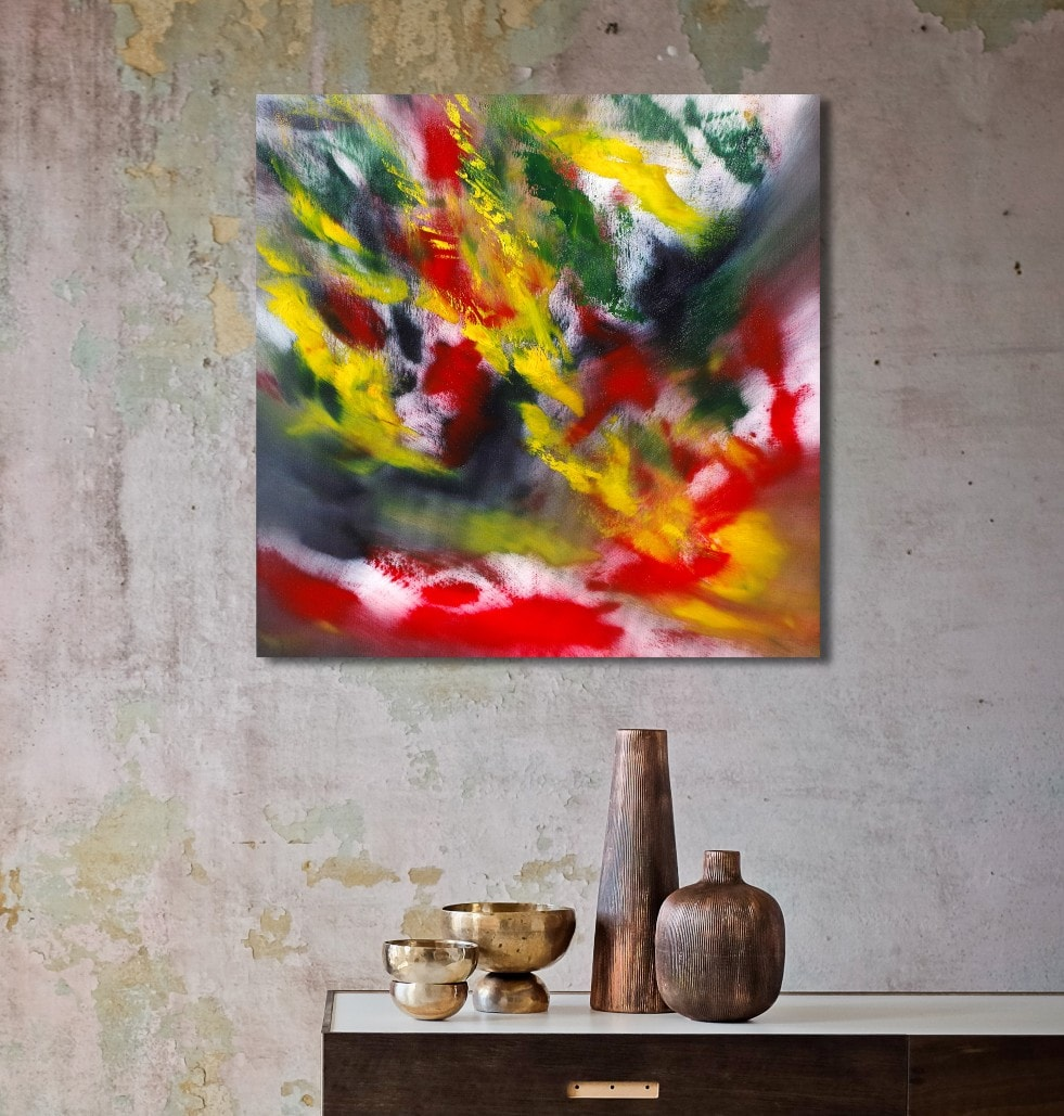 Malinconic carnival 2018 60x60 quadro moderno in vendita online