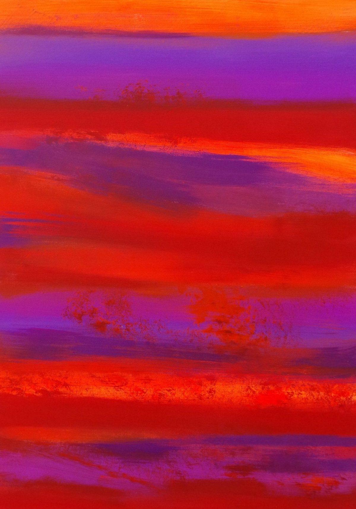 Waste not, want not, orange quadro astratto in vendita online