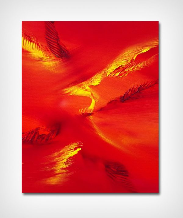 bird flying 40X50 olio su tela quadro moderno