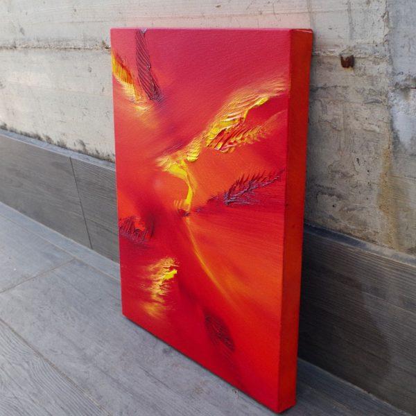 bird flying 40X50 olio su tela quadro moderno