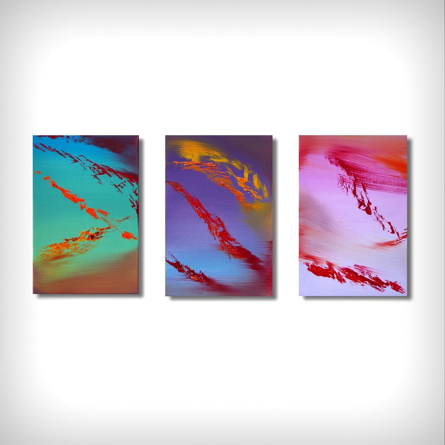 Renaissance triptych dipinto originale in vendita online