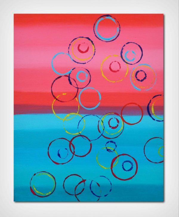 Circles 40x50 acrilico quadro astratto in vendita online