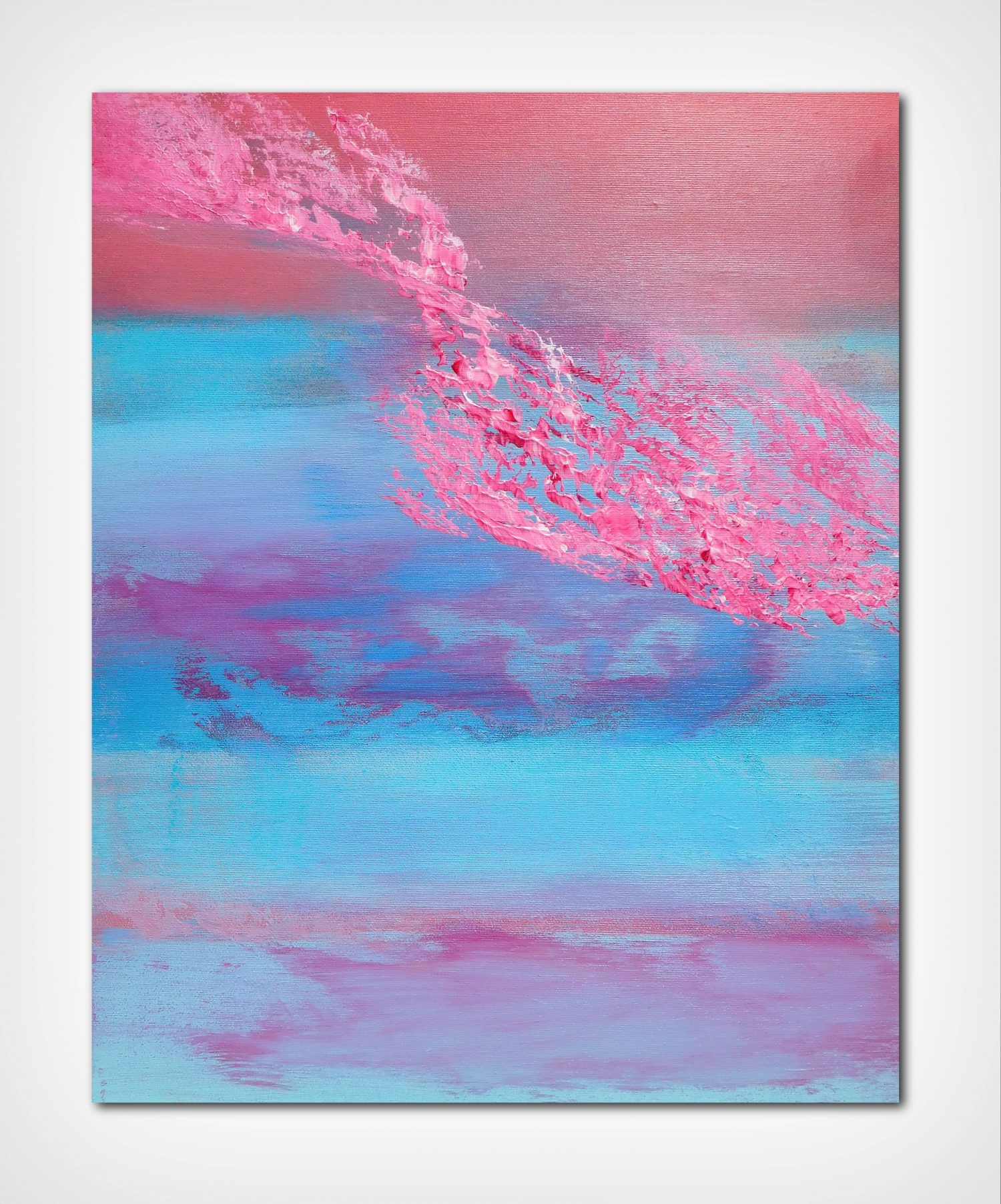 Have you ever seen the sky 40x50 acrilico quadro astratto in vendita online