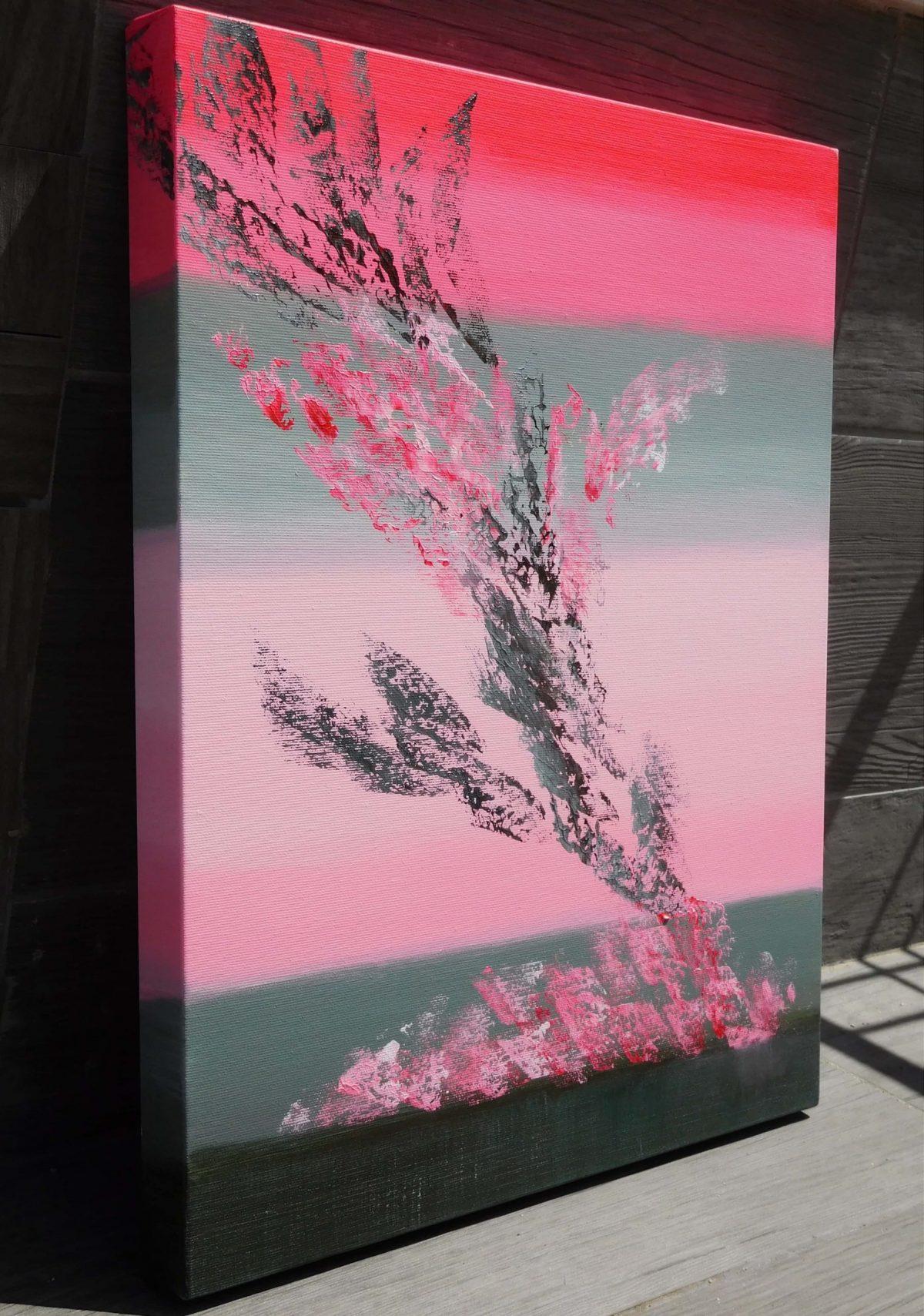 Woman in red 40x50 acrilico quadro astratto in vendita online