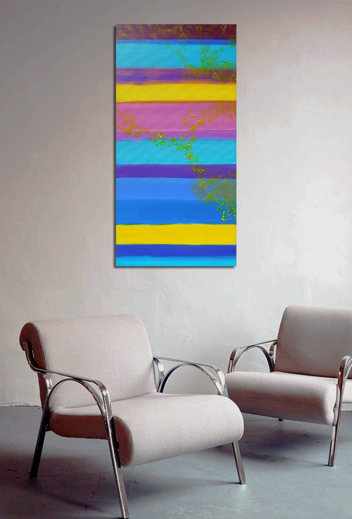 The View from Afar 40x80 acrilico quadro astratto in vendita online