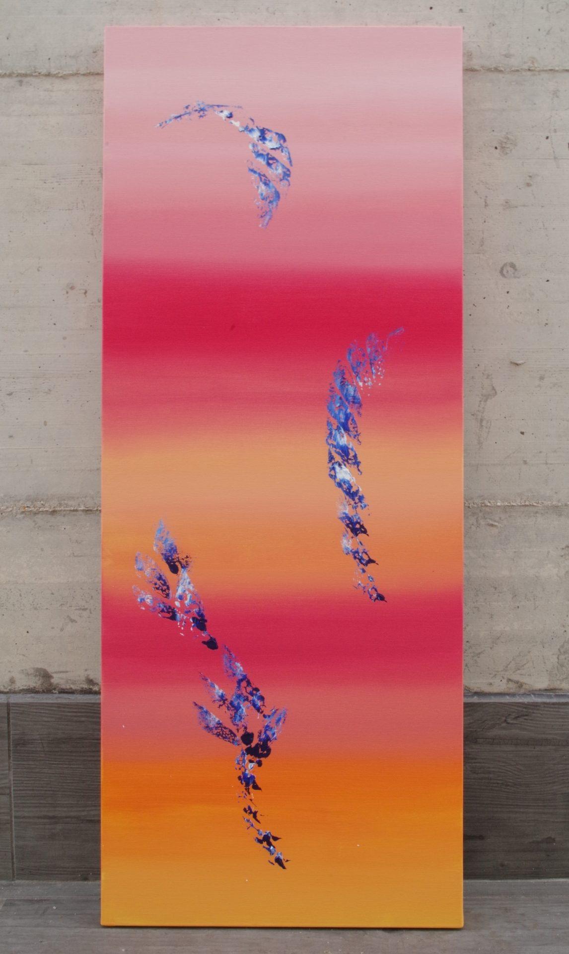 Spring coming 40x100 quadro astratto in vendita online
