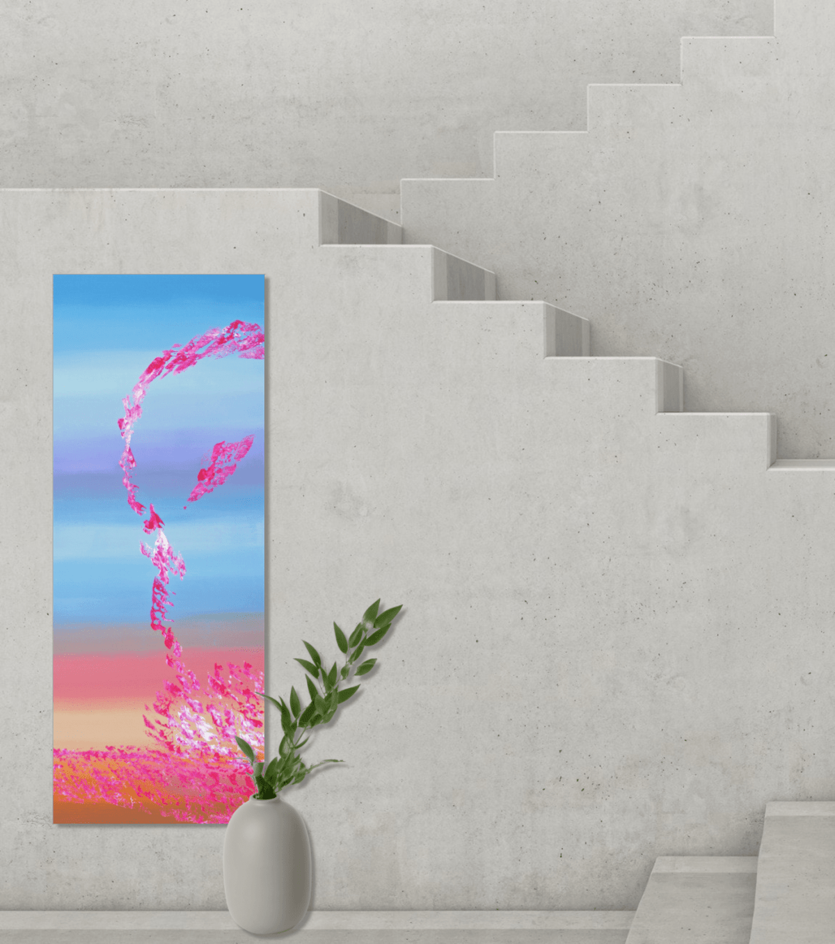 Spring coming II 40x100 quadro astratto in vendita online
