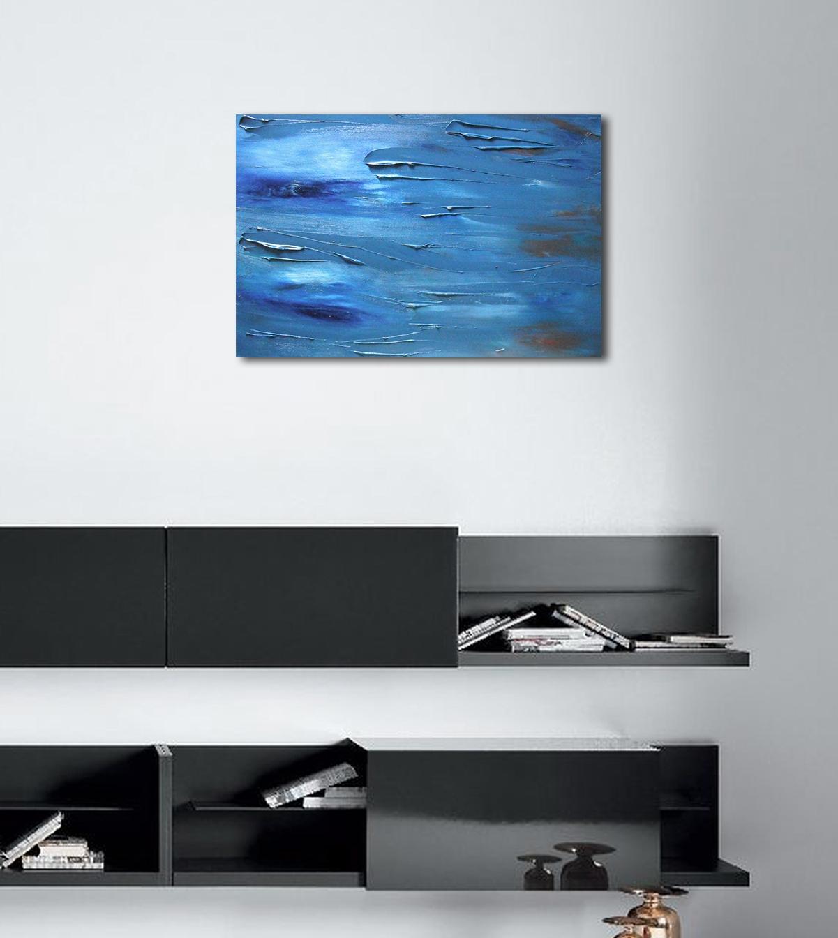 Dipinto astratto contemporaneo coraggio 60x40