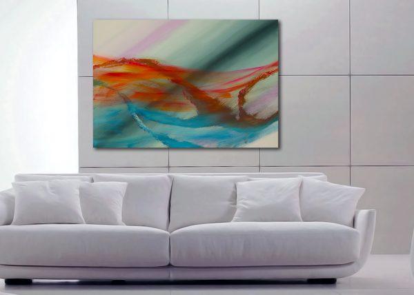 """Opera contemporanea espressionista """"Over the rainbow"""" 100x70"""