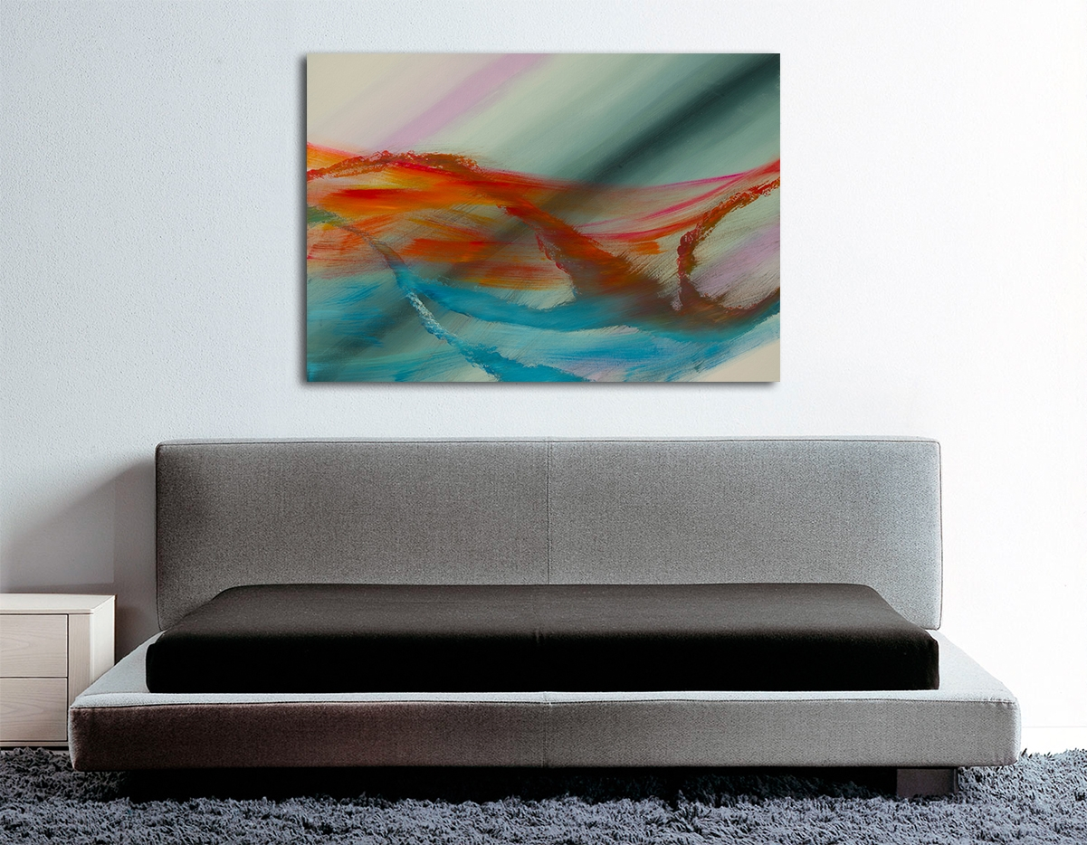 "Opera contemporanea espressionista ""Over the rainbow"" 100x70"