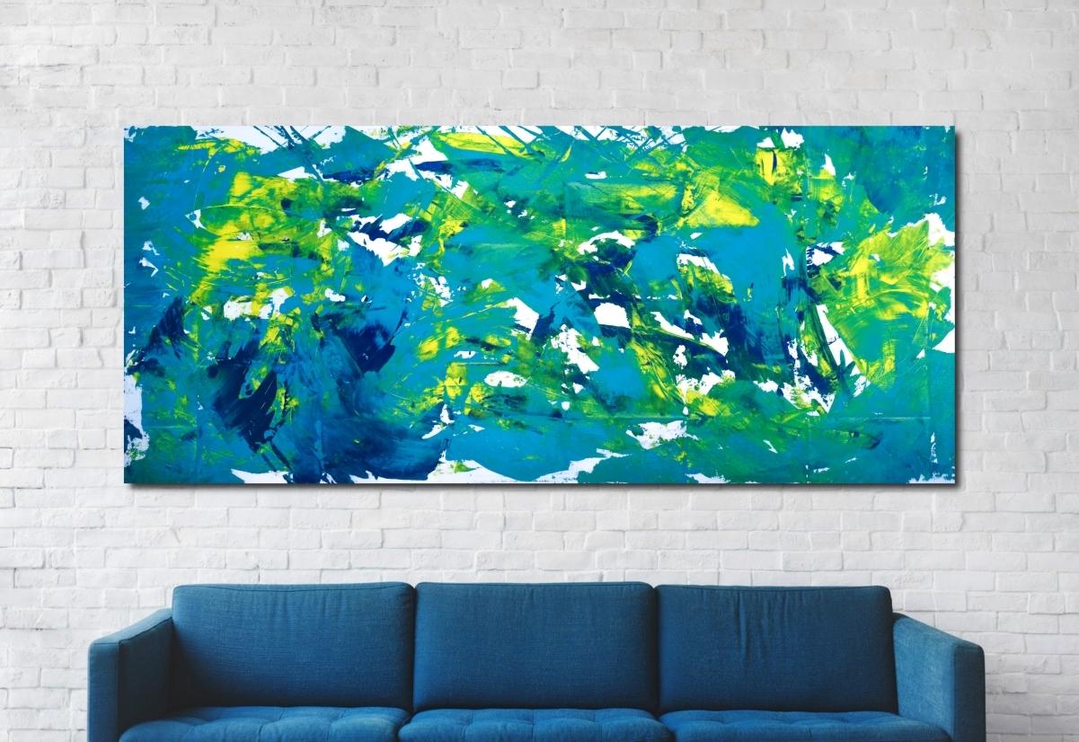 """Opera espressionista extra large """"Waterfalls"""""""