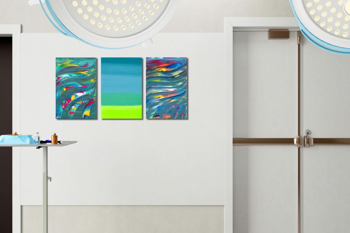 """Opere astratte """"You are in the middle, Triptych"""" n° 3 quadri"""