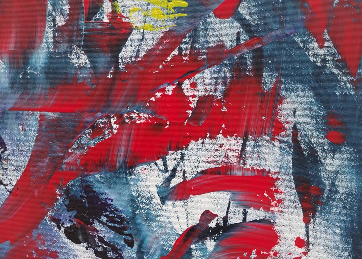 "Dipinto gestuale moderno ""Reversing Time II"""