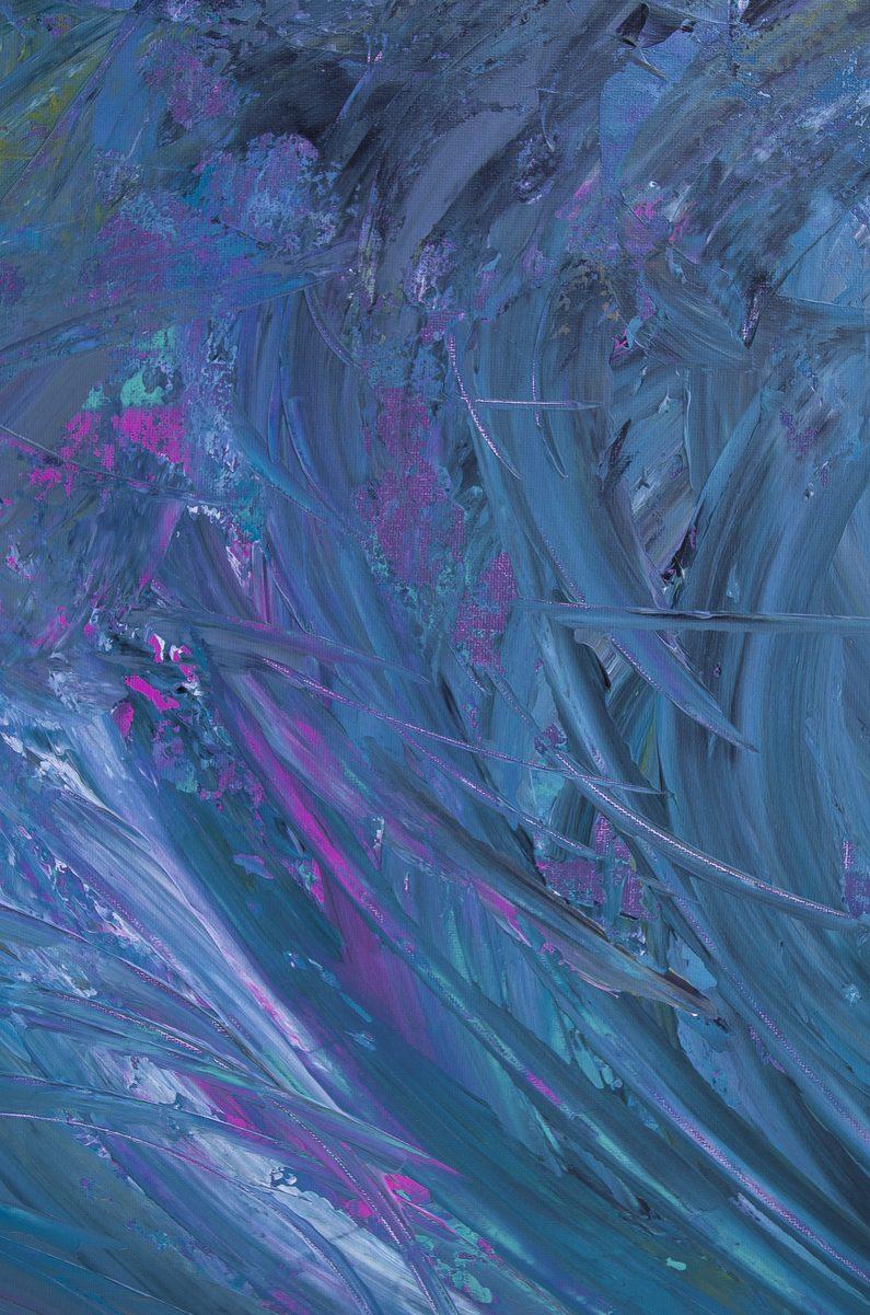 "Quadro impressionista astratto ""Touche de tempête"" 100x50 cm"