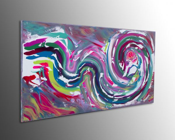 "Dipinto multicolore originale ""Color of emotion"" 100x50 cm"
