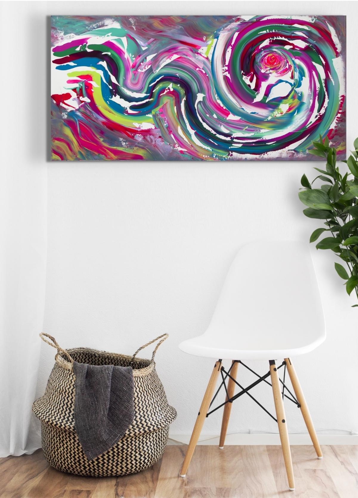 """Dipinto multicolore originale """"Color of emotion"""" 100x50 cm"""