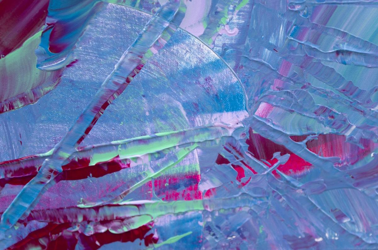 """Quadro materico contemporaneo """"Exuberant"""" 100x50 cm"""