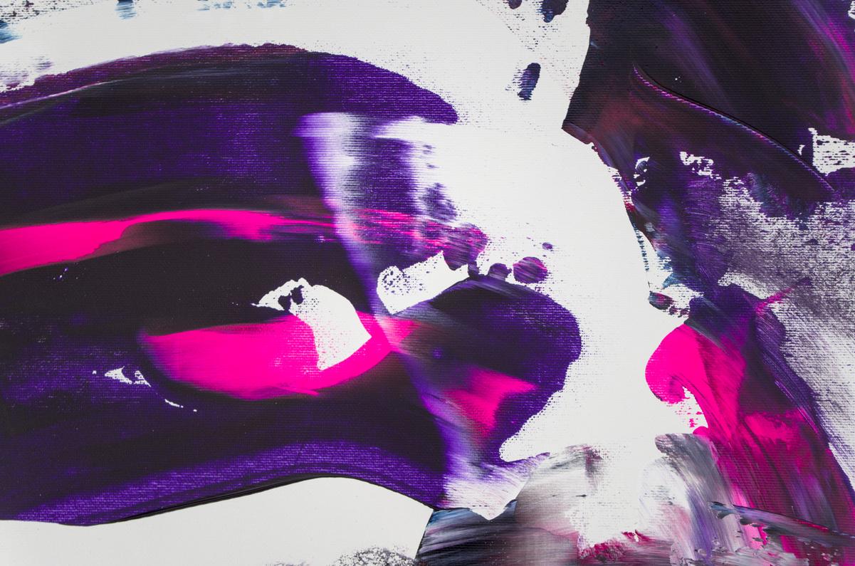 "Dipinto originale di dimensione extra ""Deep purple"""