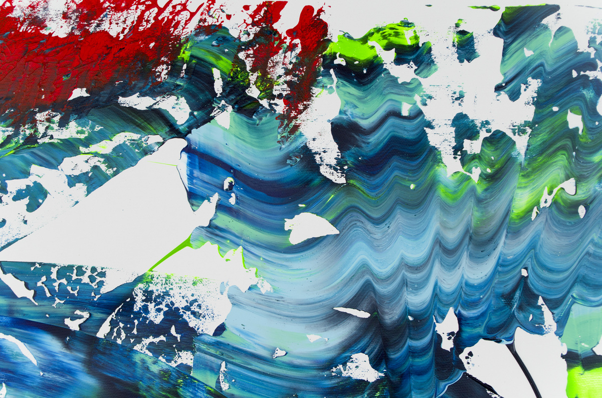 """Quadro espressionista astratto """"Deep sea"""" 200x90 cm"""