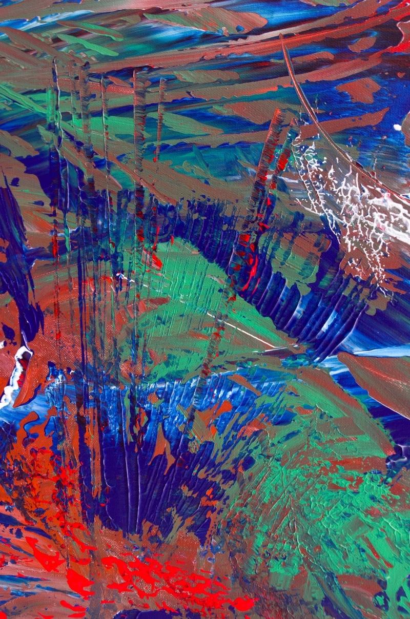"Dipinto gestuale contemporaneo ""Intense"" 100x60 cm"