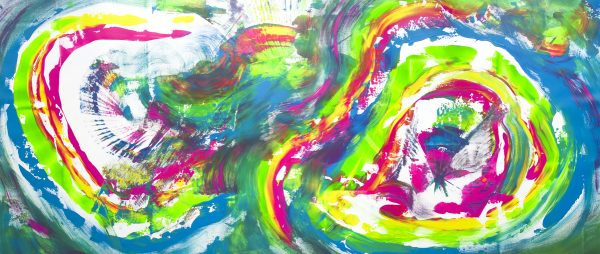"Opera multicolore extra large ""Infinite rainbow"" 200x90 cm"