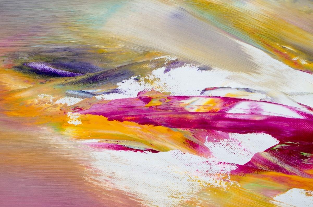"""Quadro informale astratto """"Gold """" 60x100 cm"""