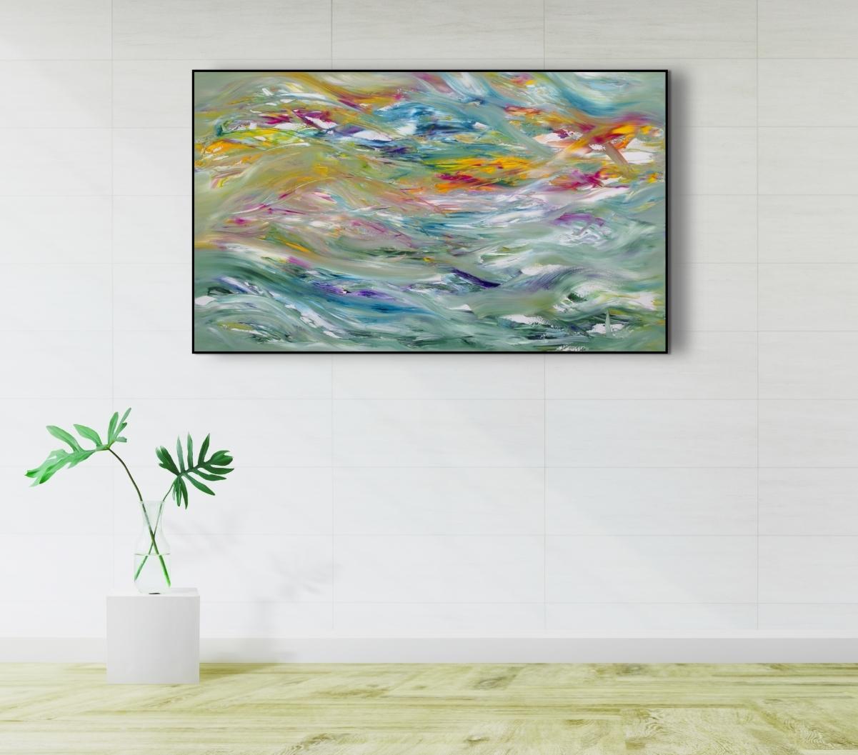 "Dipinto ispirato dal cielo ""Storm "" 100x60 cm"