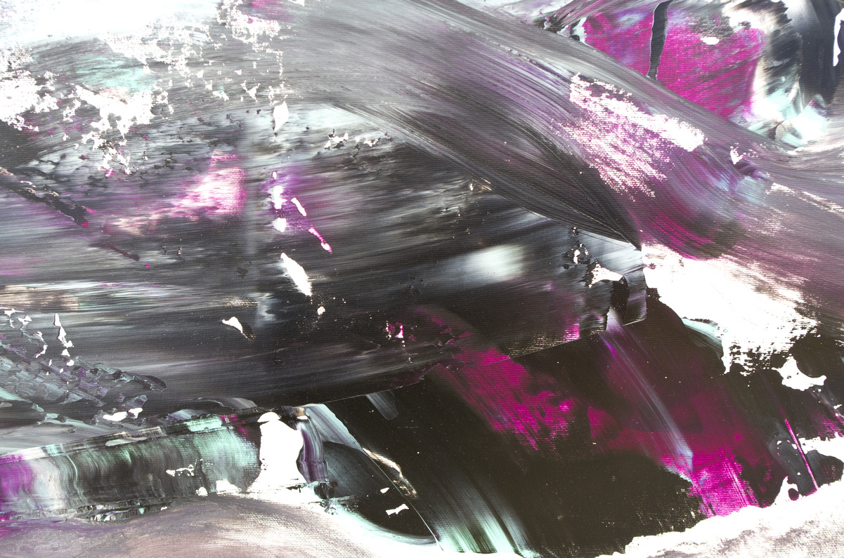 "Quadro gestuale espressionista ""The dark side of the moon"" 200x90 cm"