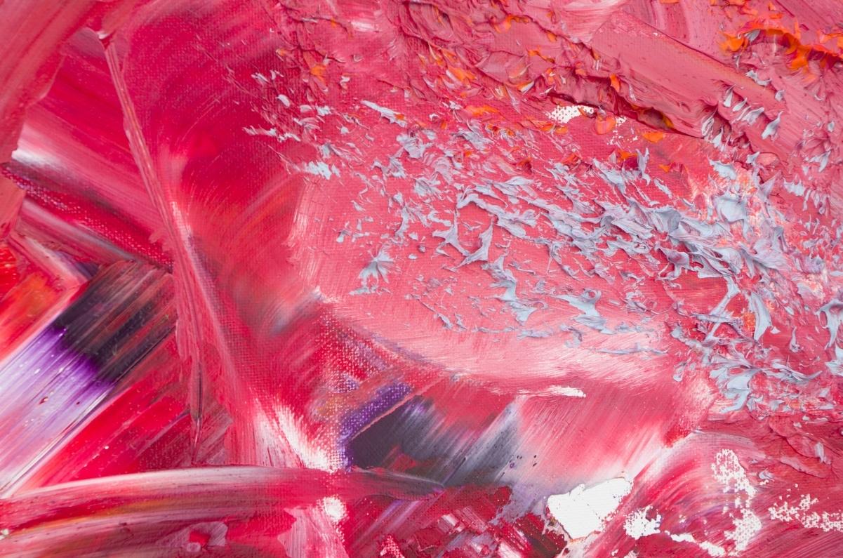 "Opera astratta emozionale ""Caress "" 100x60 cm"