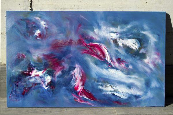 "Quadro gestuale contemporaneo ""Nuance "" 100x60 cm"