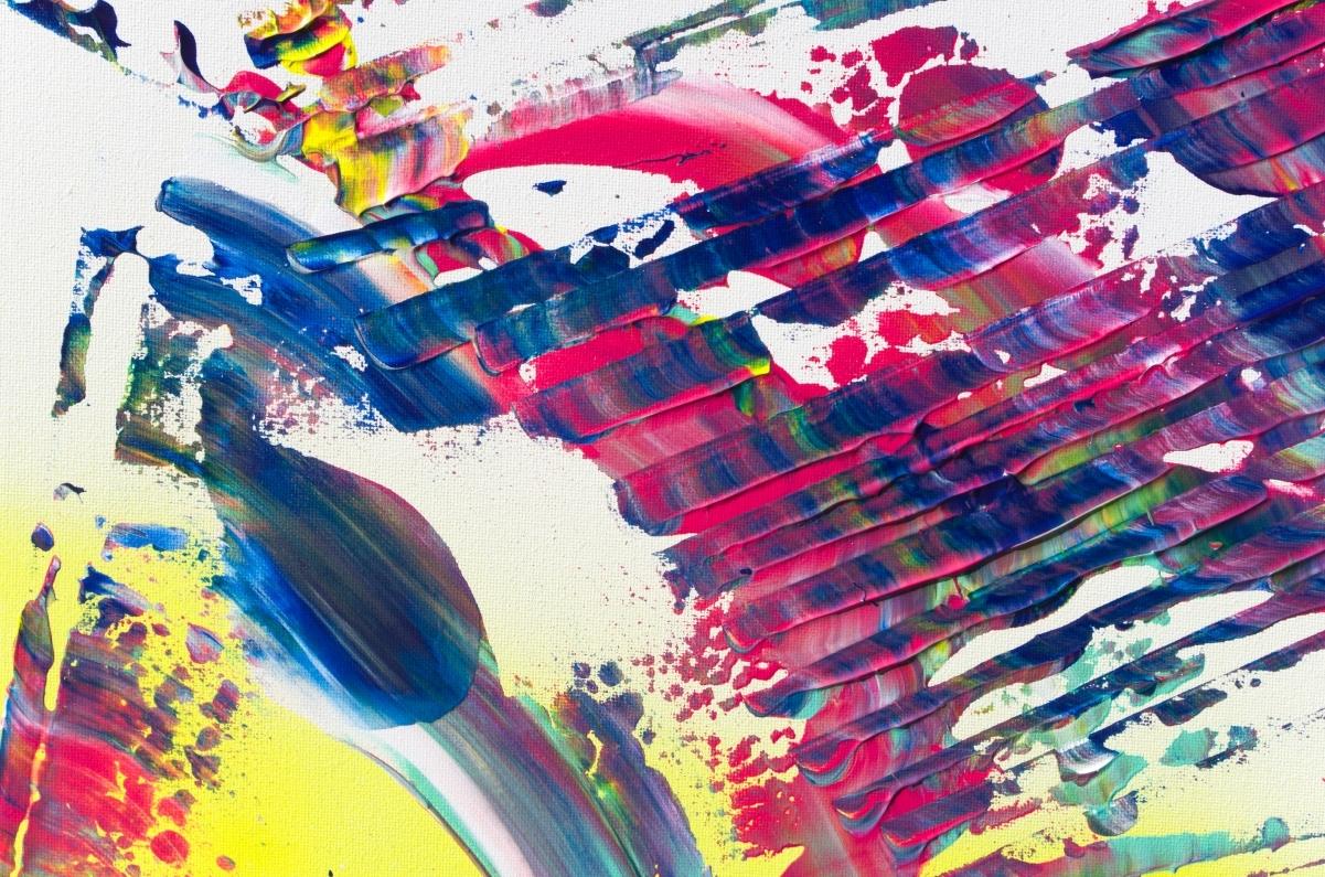 """Composizione di quadri contemporanei """"Synchrony, Triptych"""" n° 3 dipinti"""